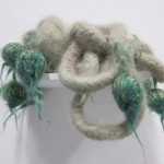 Nicholas Pope, Sloth 2012 Felted mohair, 40x15cm diameter