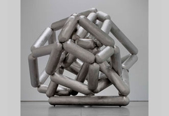 Richard Deacon, Another Mountain 2007, Stainless steel, 290 x 420 x 340 cm, The Lah Collection, Courtesy Galerie Thaddaeus Ropac, Paris, Salzburg