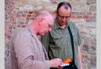 Richard Deacon & Mrdjan Bajic on site