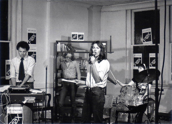 Mayo Thompson, Paula Ramsden, Kathryn Bigelow, Jesse Chamberlain in Zoran Popovic's film 'Struggle in New York' 16mm, b&w, 56:30 mins, 1976