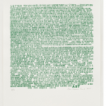 Bob and Robert Smith Letter to Michael Gove 2015, screen print, Edition 50, 59.5x42cm